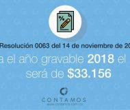 UVT, 2018, Estatuto Tributario, Impuestos, Sanciones, Índice de Precios del Consumidor, Año Gravable